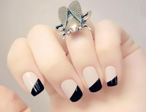 ongles-nail-art- tendance 2015 design graphique