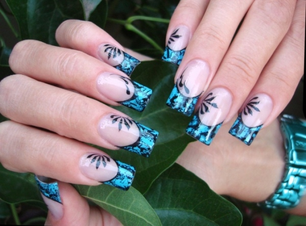 ongles-nail-art tendance french manucure ongles carrés