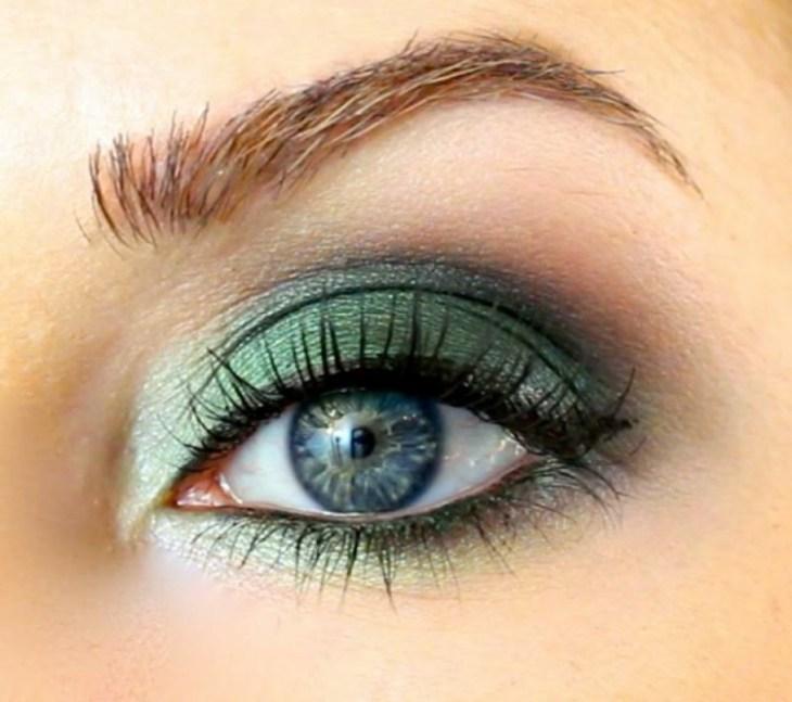 idees-maquillage-ete-fard-paupières-vert-bleu-eye-iner-mascara idées maquillage