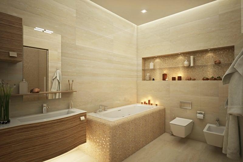 salle de bain travertin. good with salle de bain travertin. finest ... - Salle De Bain Beige Et Bois