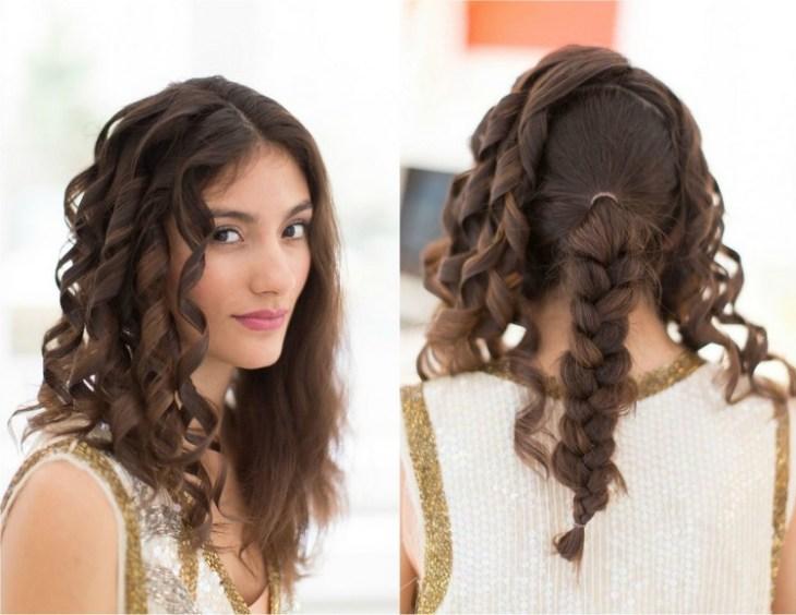 coiffure pour nouvel an cheveux-longs-boucles-fer-friser-tresse-arriere
