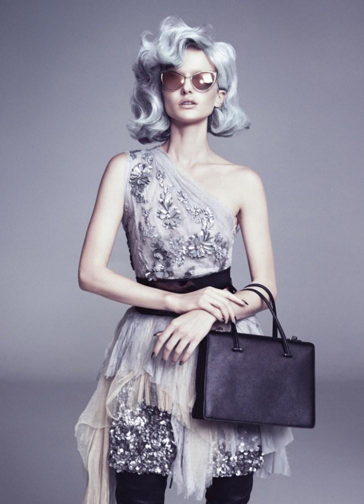 cheveux gris bleuté lavande lila- mode 2016 fashion tendance