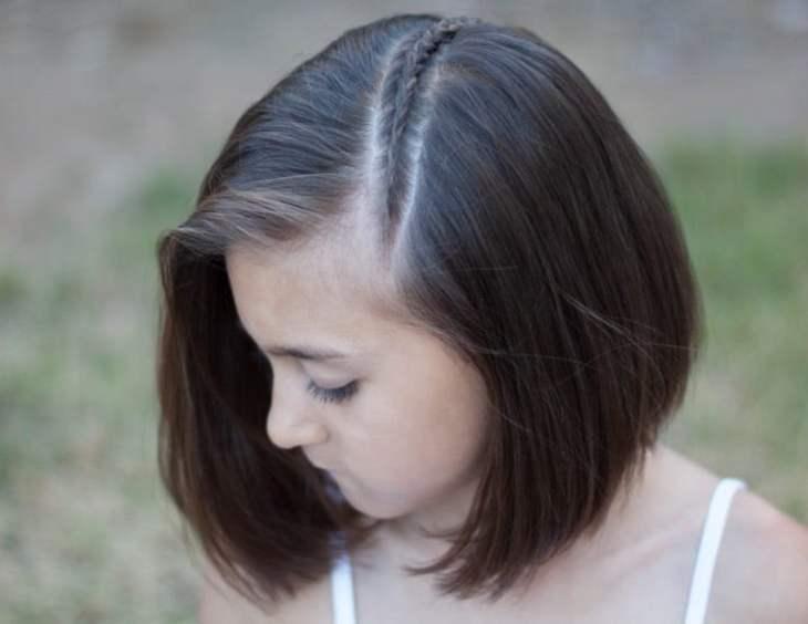 coiffure pour petite fille -coupe-carré-tresse-diagonale