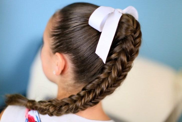 coiffure pour petite fille -tresse-arête-poisson-personnalisée