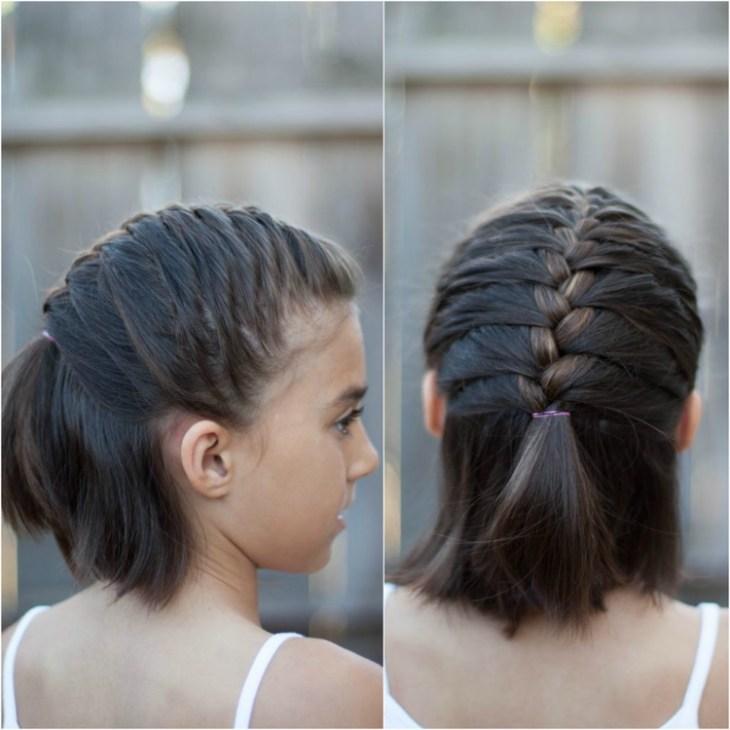 coiffure pour petite fille -tresse-française-cheveux-courts