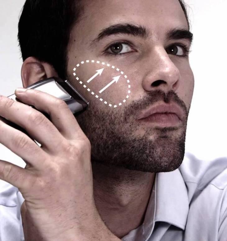 entretien de la barbe-3-jours-tondre-contre-pousse-poil
