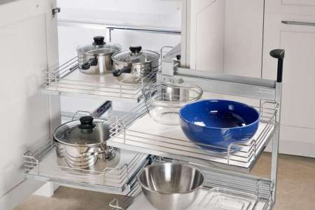 meuble angle cuisine moderne plateforme extractibles