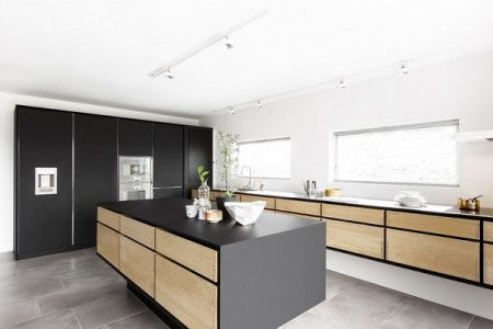 white oak kitchen cabinets modern oak kitchen design black kitchen island