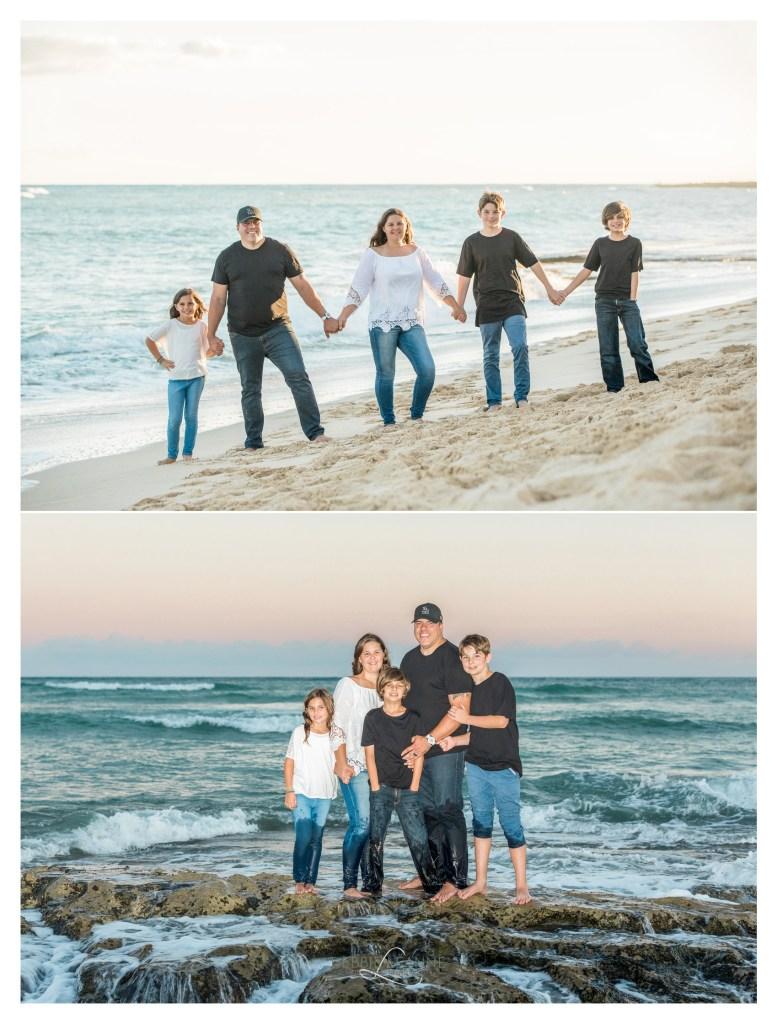 Family on beach in Ewa Beach Hawaii