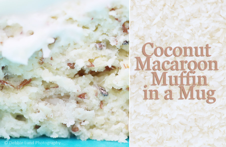 coconut, recipe, muffin in a mug, food photography