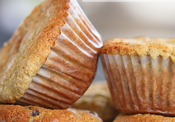 chocolate chip, banana, muffins, gluten free