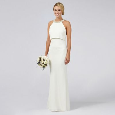 wedding dresses grecian style wedding dress Ben De Lisi Occasion Ivory embellished Serena wedding dress