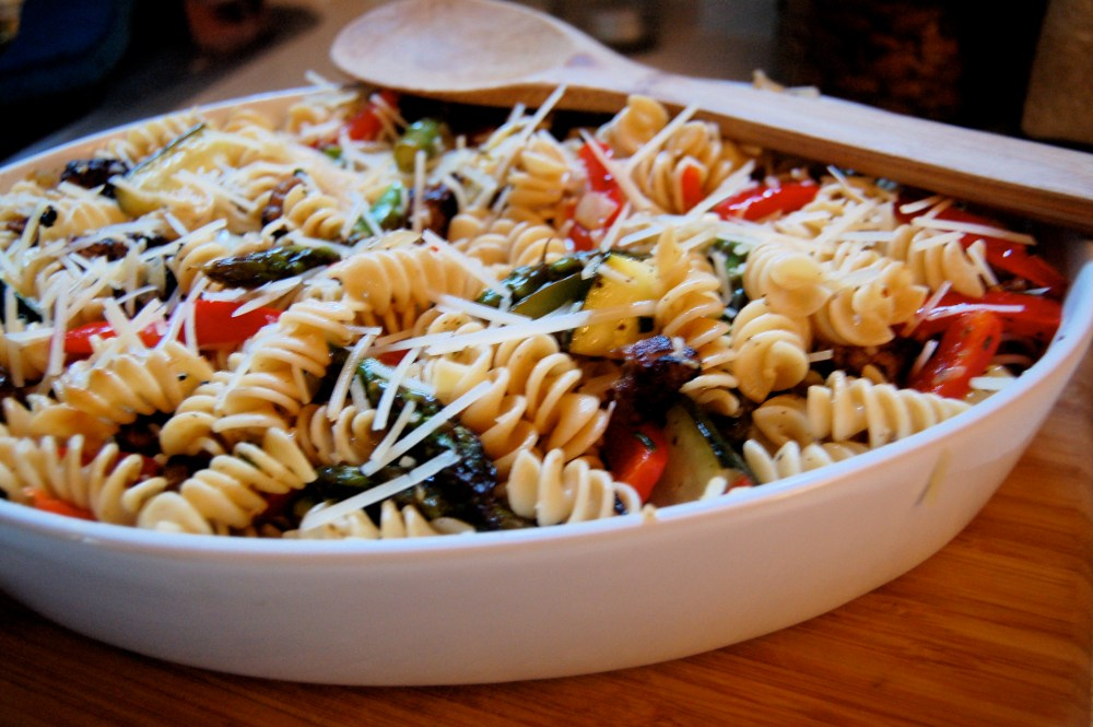 Garden Vegetable Pasta Bake (w/Italian Sausage) (2/2)