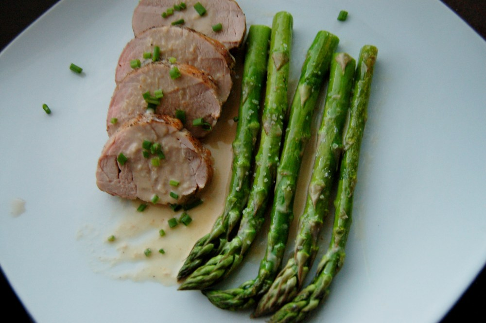 Roasted Pork Tenderloin in a Mustard Horseradish Sauce (1/2)