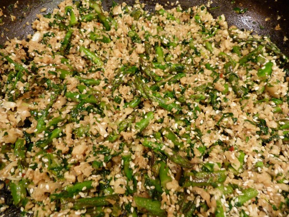 cauli rice cooking