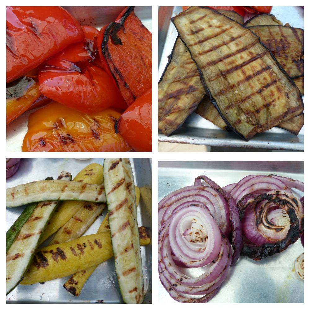 Grilled Veggie Collage