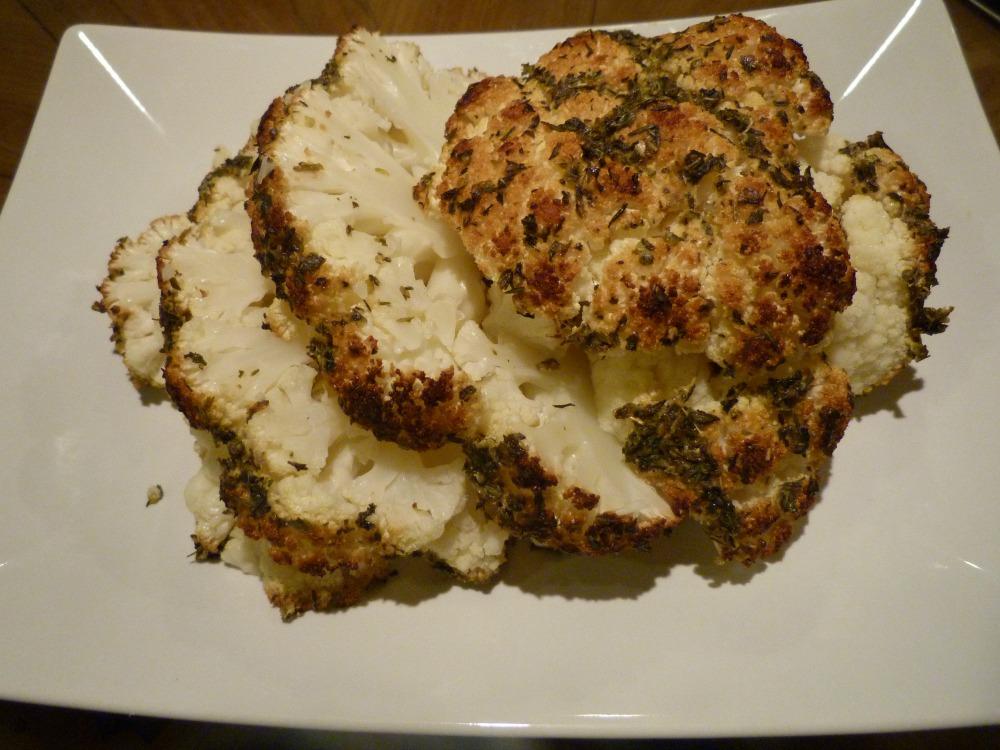 Slices of Roasted Cauliflower