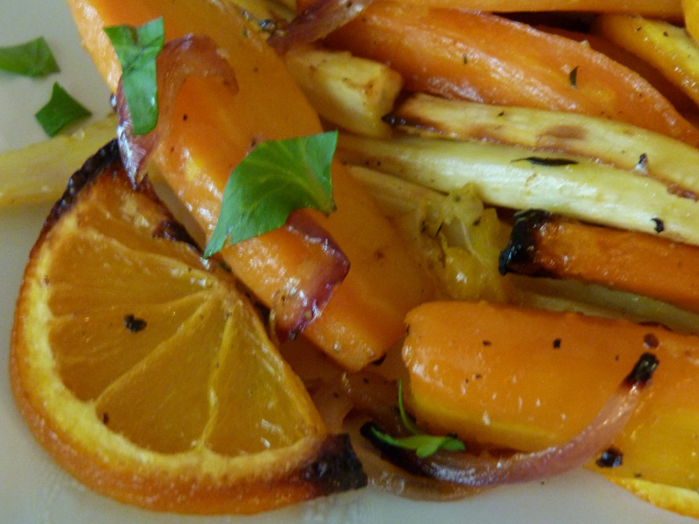 Roasted Roots Onions and Oranges