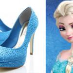 Sapatos lindos inspirados em Elsa – Frozen