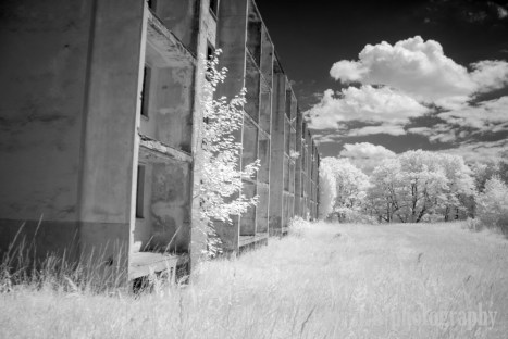And another Soviet apartment building. (Camera: Canon Rebel XT converted to Infrared)
