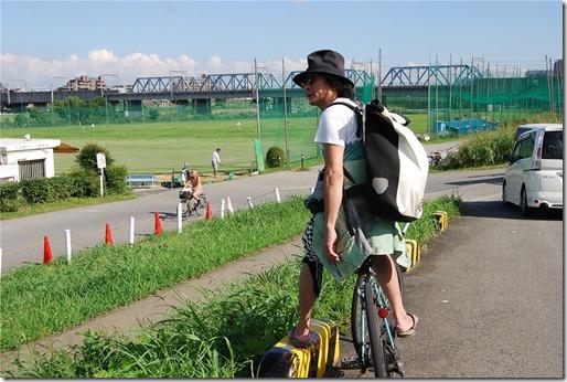 多摩川で撮影