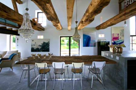 rustic modern concrete interior design