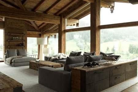 contemporary rustic chalet interior design