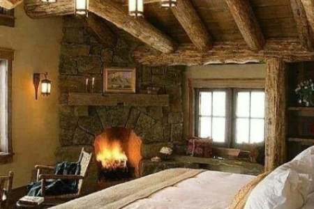 rustic bedroom decorating idea 3
