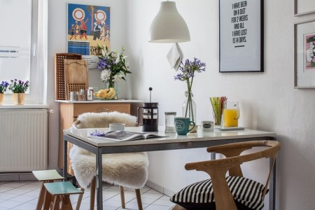 dining table eat in small kitchen idea