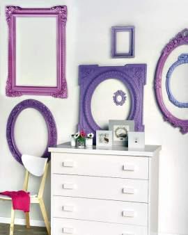 decoración de paredes con marcos