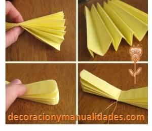 como hacer una flor de papel facil