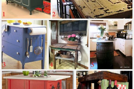 gallery for > repurposed furniture ideas kitchen