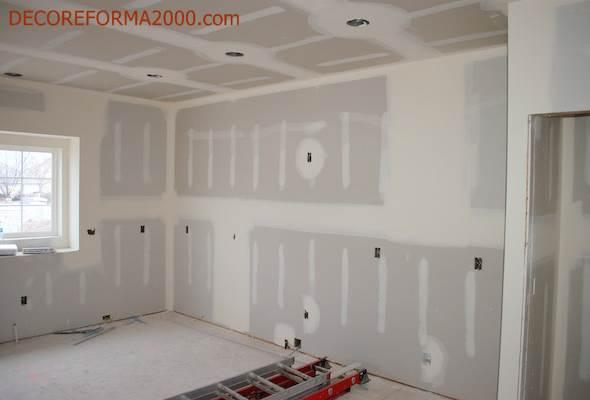 Consejos para pintar paredes y techos de pladur - Imprimacion para paredes ...