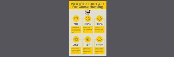 how weather impacts goose hunting