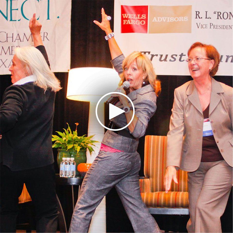 DeDe Murcer Moffett SNAP Keynote Speaker reel, best female speaker and meeting planners favorite speaker