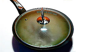 сковородка с гречкой