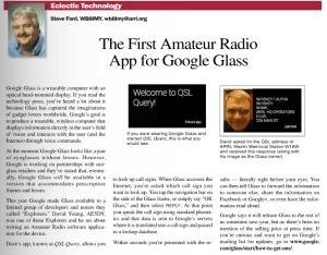 QSL Query featured in QST 12/2013