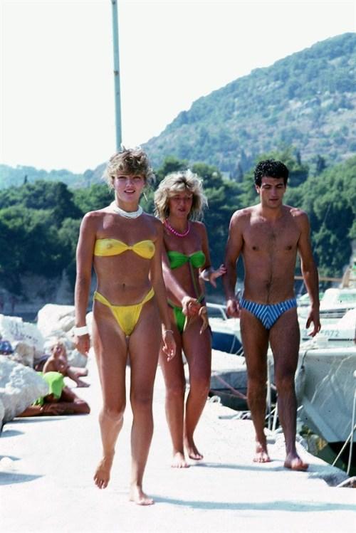 Sexy Women Bikini Beach With Friends In The Summer Of 1985, Split Croatia