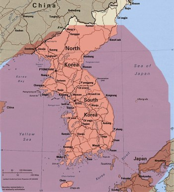 300-km range from South Korea's borders