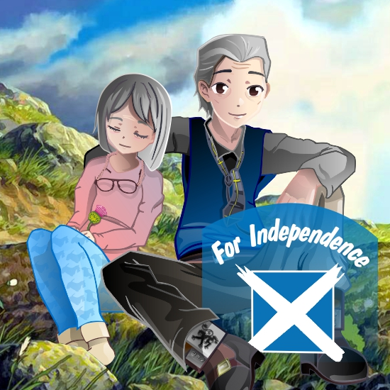 Couple for Independence (cartoon version) drawing on Corel Draw