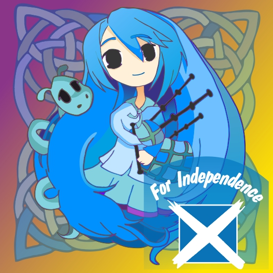Cartoon Girl (chibi) for  Independence drawing created on Corel Draw