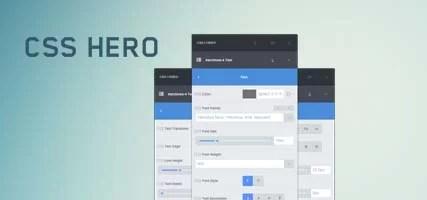 CSS HERO – Customize WordPress Themes