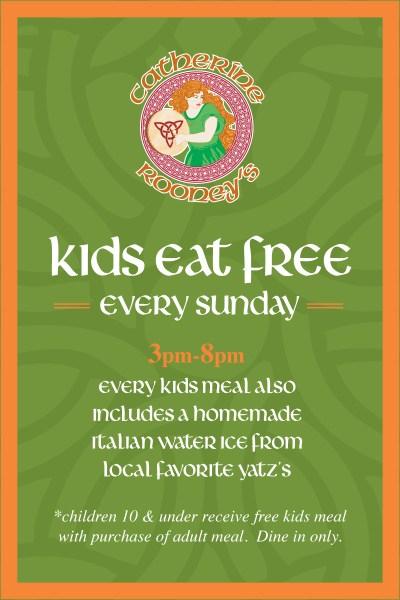 Catherine Rooneys kids eat free