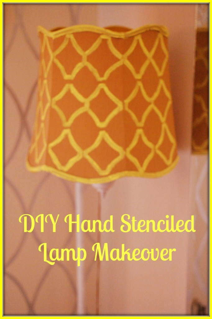 DIY Hand Stencilled Lamp Makeover