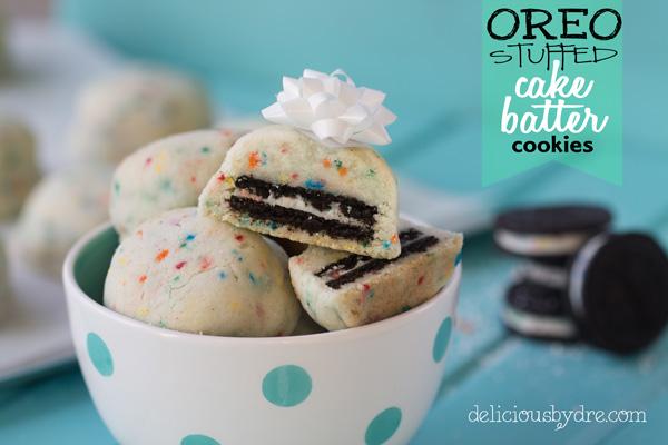 oreo stuffed cake-batter cookies