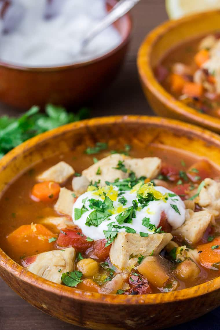 Large Of Moroccan Chicken Stew