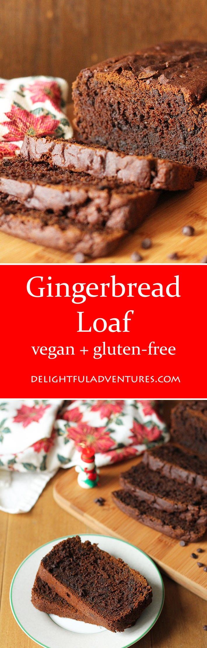 Vegan Gluten Free Gingerbread Loaf - Delightful Adventures