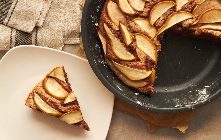Pear & Chocolate Skillet Cake