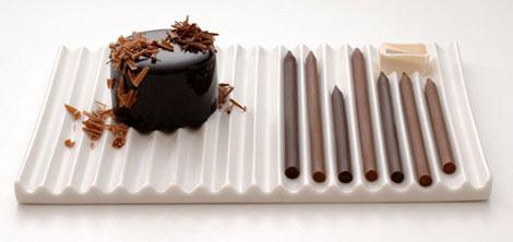 virutas de chocolate práctico postres pasteleria lápices Genial! dulces decoración postres chocolate buenas ideas
