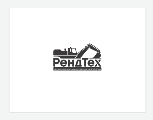 Логотип для строительной техники «РендТех»